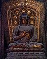Jin Dynasty statue of Akshobhya (阿閦如来; Āchùrúlái), one of the Five Tathagathas (五方佛 Wǔfāngfó) or Five Wisdom Buddhas (五智如来 Wǔzhì Rúlái) at Shanhua Temple (善化寺) in Datong, Shanxi, China.jpg