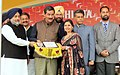 Jitendra Singh presenting the National Youth Award to one of the awardees, at the inaugural function of the 18th National Youth Festival, at Ludhiana.jpg