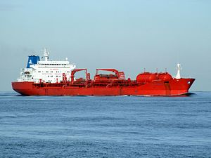 Jo Sypress IMO 9150315 approaching Port of Rotterdam, Holland 21-Feb-2005.jpg
