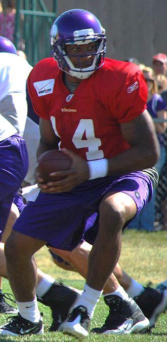 Joe Webb - Webb at the Vikings training camp in 2011.