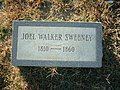 Joel Walker Sweeney headstone.jpg