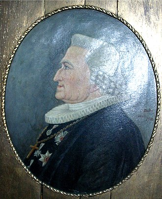 Johan Nordahl Brun - Portrait hanging in the Bergen Cathedral
