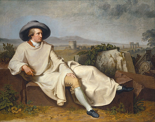 Johann Heinrich Wilhelm Tischbein - Goethe in the Roman Campagna - Google Art Project