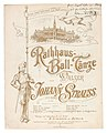 Johann Strauss Rathaus-Ball-Tänze Titelblatt mit Widmung.jpg