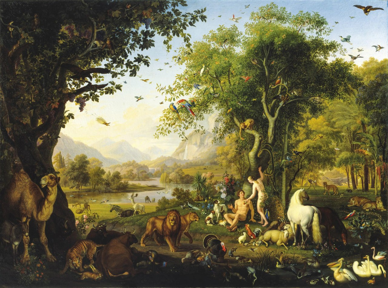 File:Johann Wenzel Peter - Adam and Eve in the earthly paradise.jpg -  Wikimedia Commons