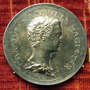 Charles Sackville, 6th Earl of Dorset - A medal by Lorenz Natter depicting Charles Sackville