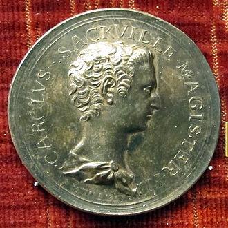 Charles Sackville, 6th Earl of Dorset - A medal by Lorenz Natter depicting Charles Sackville