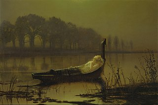 The Lady of Shalott Victorian ballad by Alfred Tennyson in 1832