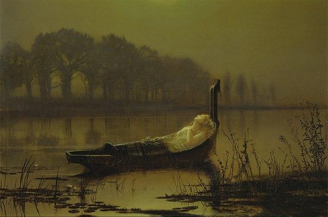 vos tableaux préférés 640px-John_Atkinson_Grimshaw_-_%22The_Lady_of_Shalott%22_-_Google_Art_Project