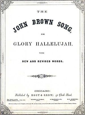 "John Brown's Body - Cover of an 1861 sheet music score for ""John Brown's Song"""