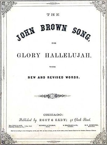 "Cover of sheet music for ""John Brown's So..."