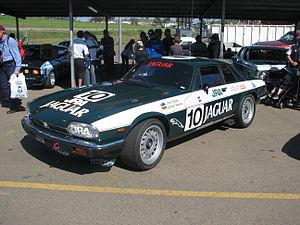 John Goss (racing driver) - The 1980 Jaguar XJ-S John Goss repainted as a replica of the 1985 James Hardie 1000 race winner