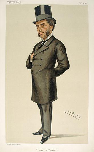 John Morgan Howard - Caricature by Spy published in Vanity Fair in 1881.