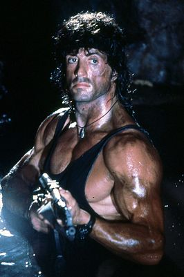 Sylvester Stallone als John Rambo in First Blood