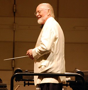 English: John Williams conducting at Hollywood...