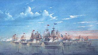 Battle of Martín García (1814) - Image: Jose Murature 1865 Martin Garcia MNN