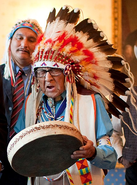 File:Joseph Medicine Crow at the White House.jpg