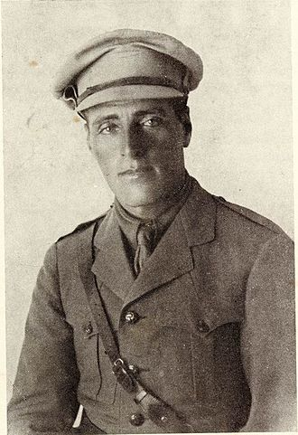 Joseph Trumpeldor - Joseph Trumpeldor in the uniform of a British army officer but without visible badges, c. World War One