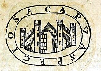 "Jordan II of Capua - Seal of Jordan II from a document of 1125, depicting the city of Capua and the words CAPUA SPECIOSA (""Fair Capua"")."