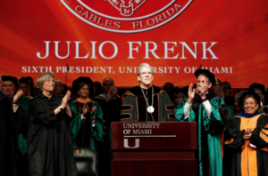 Julio Frenk - Julio Frenk is officially installed as the 6th president of the University of Miami on January 29, 2016.