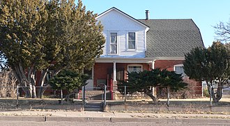 National Register of Historic Places listings in Guadalupe County, New Mexico - Image: Julius J. Moise house from NW 1