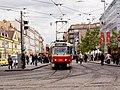 Křižovatka Anděl, Tatra T3R.P vjíždí.jpg