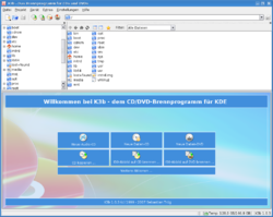 Screenshot von K3b