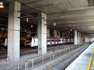 Racecourse Station (MTR) - Image: KCRER Depot 20071117