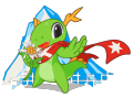 KDE mascot Konqi for KDE event Randa Meeting.png