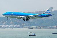 KLM Boeing 747-400 (M); PH-BFO@HKG;31.07.2011 614mz (6052685409).jpg