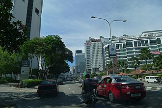 Kuala Lumpur Middle Ring Road 1 - Jalan Tun Razak (formerly known as Jalan Pekeliling) in Kuala Lumpur, Malaysia, near the American Embassy. This is one of the main and most congested arterial roads in Kuala Lumpur.