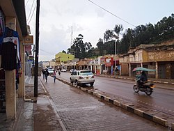 The Main Street of Kabale, a road with many shops.