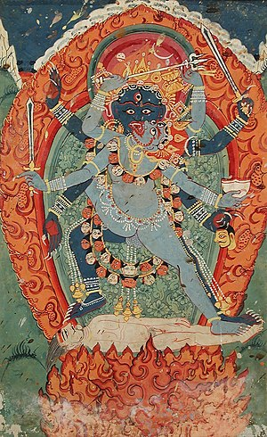The Hindu Goddess Kali and God Bhairava in Uni...