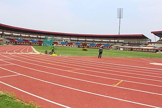 2017 Asian Athletics Championships - Newly prepared synthetic track of Kalinga Stadium