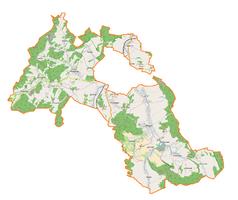 Mapa lokalizacyjna gminy wiejskiej Kamienna Góra
