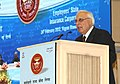 Kapil Sibal addressing at the concluding function of Diamond Jubilee Year of Employees' State Insurance Corporation, in New Delhi on February 24, 2012.jpg