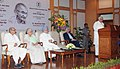Kapil Sibal addressing at the launch of the Gandhi Heritage Portal, in New Delhi. The Prime Minister, Dr. Manmohan Singh, the Union Minister for Culture, Smt. Chandresh Kumari Katoch.jpg