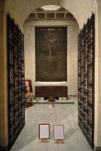 Stefan Wyszyński - Mausoleum chapel of Cardinal Stefan Wyszyński in St. John's Archcathedral in Warsaw.