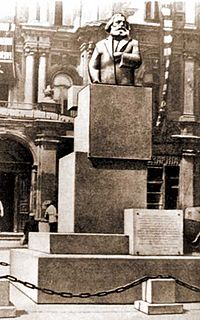 Памятник Карлу Марксу в 1920-х годах