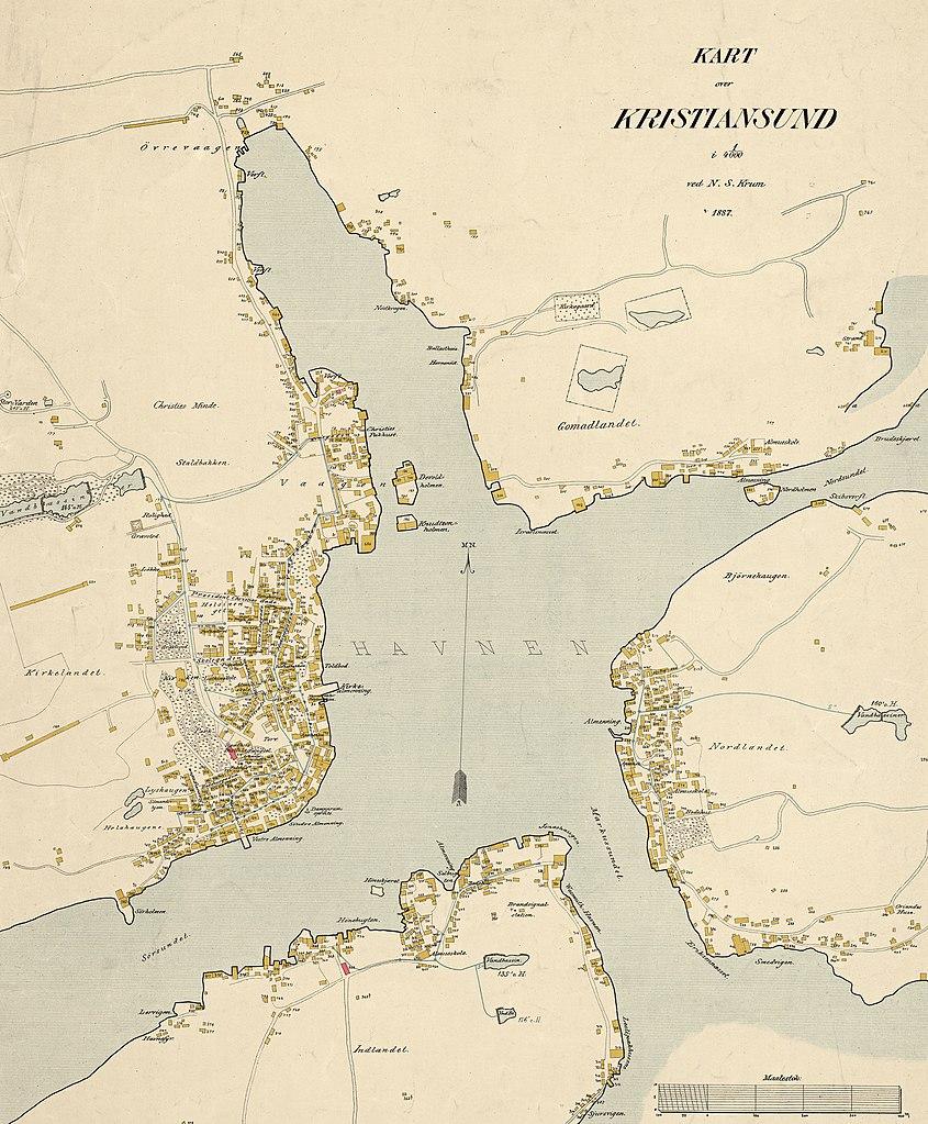 File Kart Over Kristiansund 1887 Jpg Wikimedia Commons