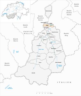 Karte von Visp