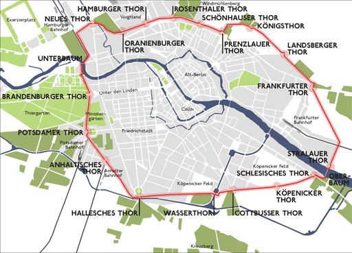 Karte berlin akzisemauer