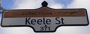 Keele Street - Image: Keele Street Sign Junction