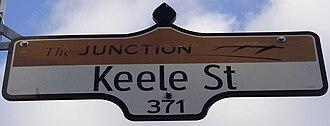 Keele Street - Image: Keele Street Sign Junction