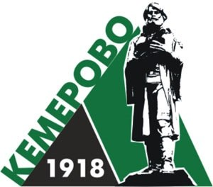 Kemerovo - City emblem with the monument to Mikhail Volkov