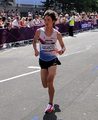 Kentaro Nakamoto - Kentaro Nakamoto in the marathon at the 2012 Olympics in London