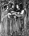 Kiel ili memtrovis sin, akvopentraĵo de Dante Gabriel Rosetti, 1864.jpg