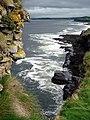 Kilbarron Castle Wall on Cliffs - geograph.org.uk - 942879.jpg