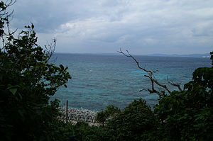 Uruma - Kin Bay viewed from Ikei Island.