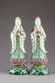 Kinesiska figurer föreställande Guanyin barmhärtighetens gudinna - Hallwylska museet - 95992.tif